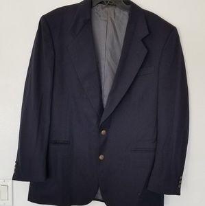 Oscar De La Renta Mens Navy Blue Lined Sports Coat